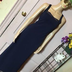 Vintage all that jazz navy blue dress